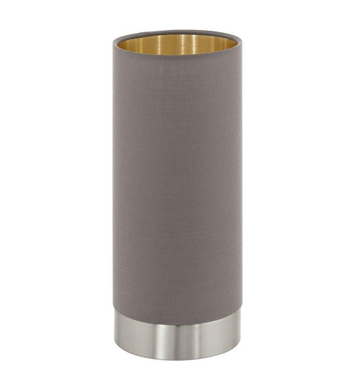 Lampa stołowa w kolorze cappuccino ze złotym środkiem Maserlo tuba