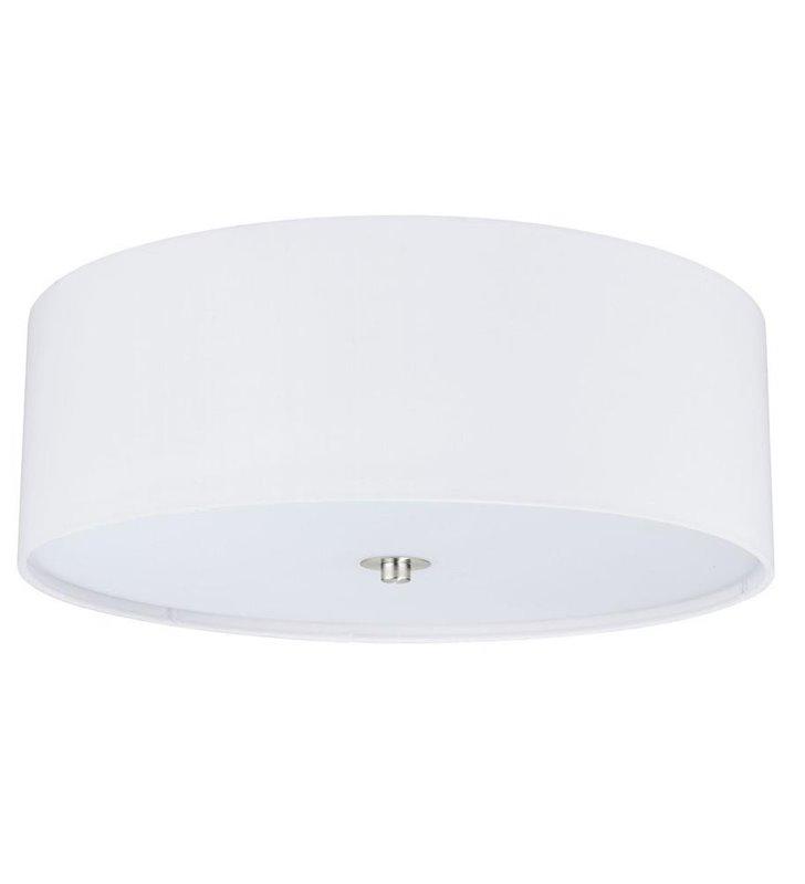 Plafon Pasteri 475 abażur materiałowy okrągły biały matowy- DOSTĘPNA OD RĘKI