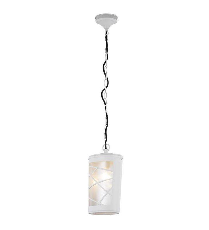 Biała lampa wisząca zewnętrzna Paco White