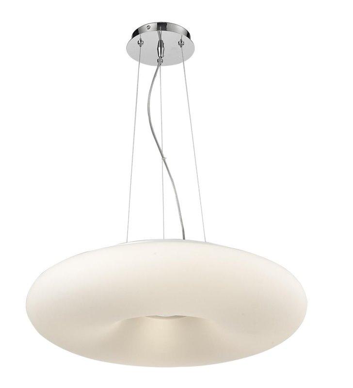 Lampa wisząca Level biały szklany okrągły klosz