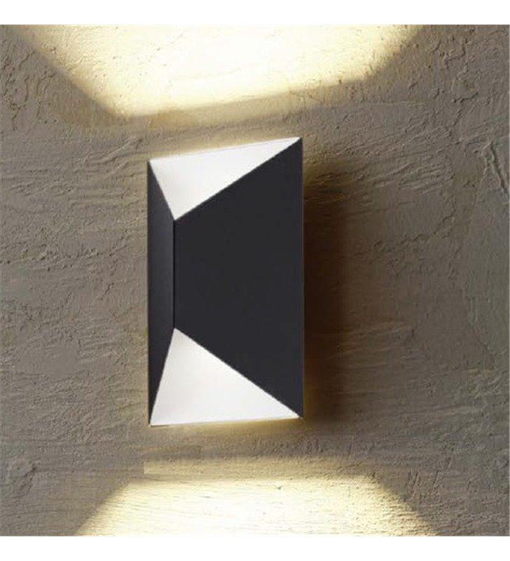Lampa ścienna zewnętrzna Predazzo antracyt strumień światła góra i dół wymienny moduł LED - DOSTĘPNY OD RĘKI