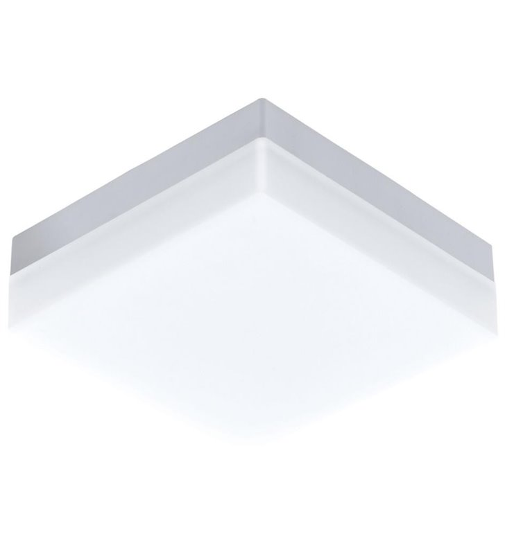 Kwadratowy biały plafon ogrodowa Sonella z wymiennym modułem LED
