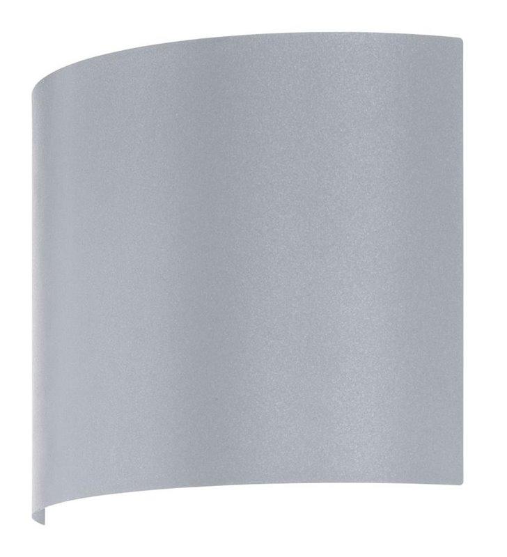 Lampa ścienna zewnętrzna Corfino srebrny łuk