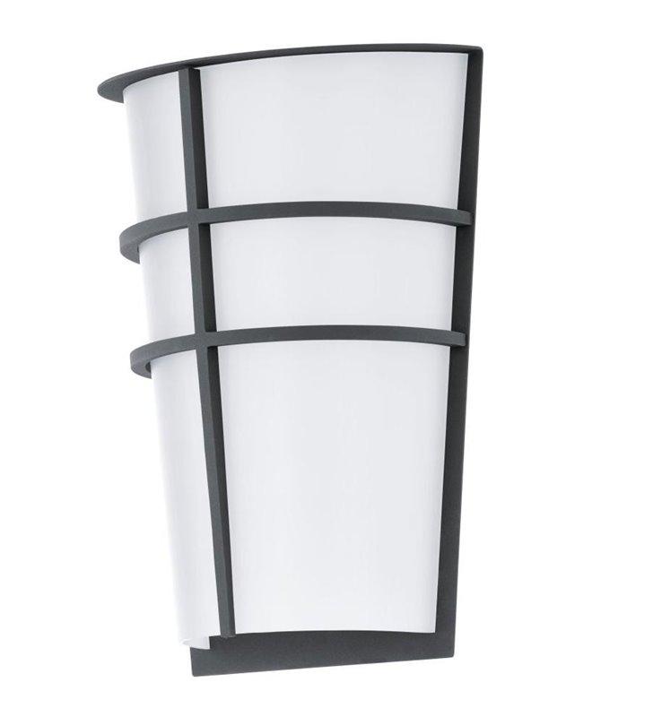 Breganzo grafitowa nowoczesna lampa ścienna ogrodowa LED