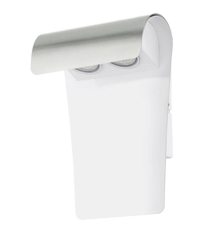 Nowoczesny kinkiet do ogrodu Fastro1 LED połączenie koloru białego i stali - DOSTĘPNY OD RĘKI