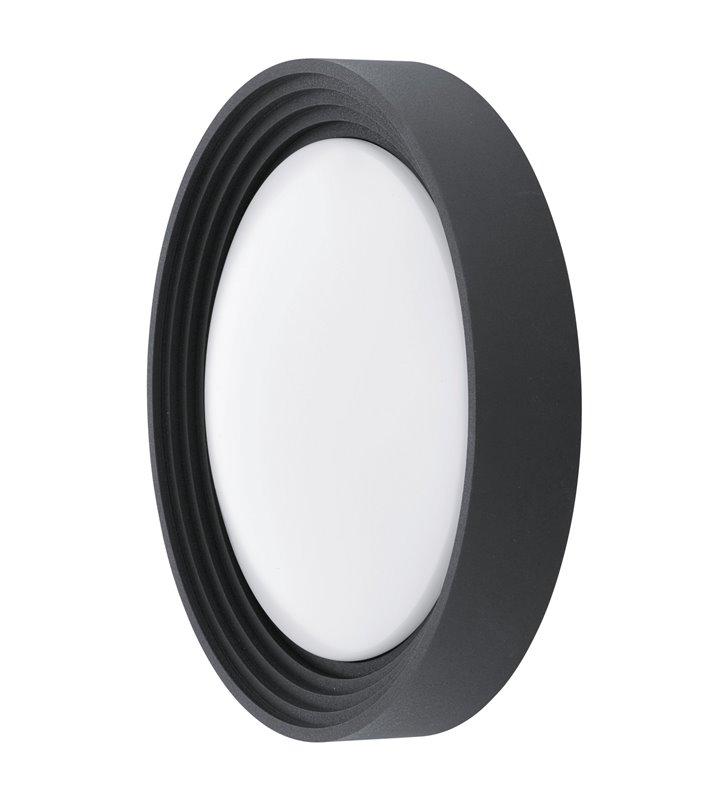 Okrągły czarny plafon zewnętrzny Ontaneda