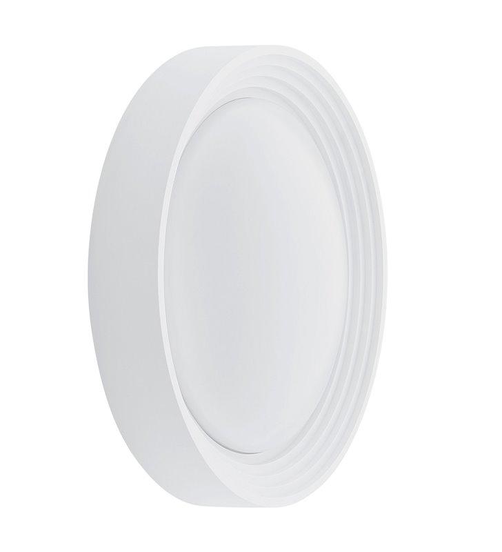 Okrągły biały plafon zewnętrzny Ontaneda