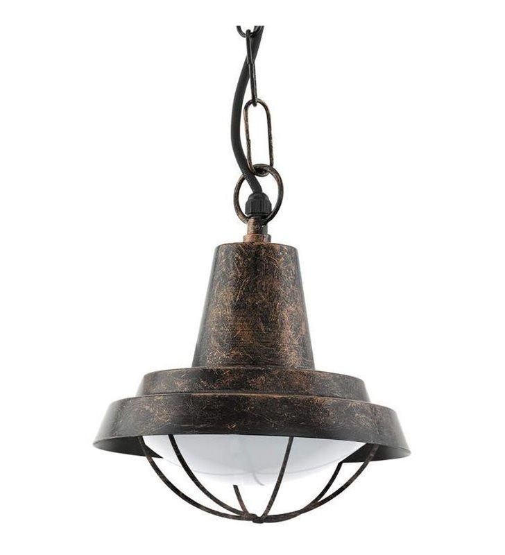 Lampa wisząca do ogrodu Colindres w kolorze antycznej miedzi w stylu vintage