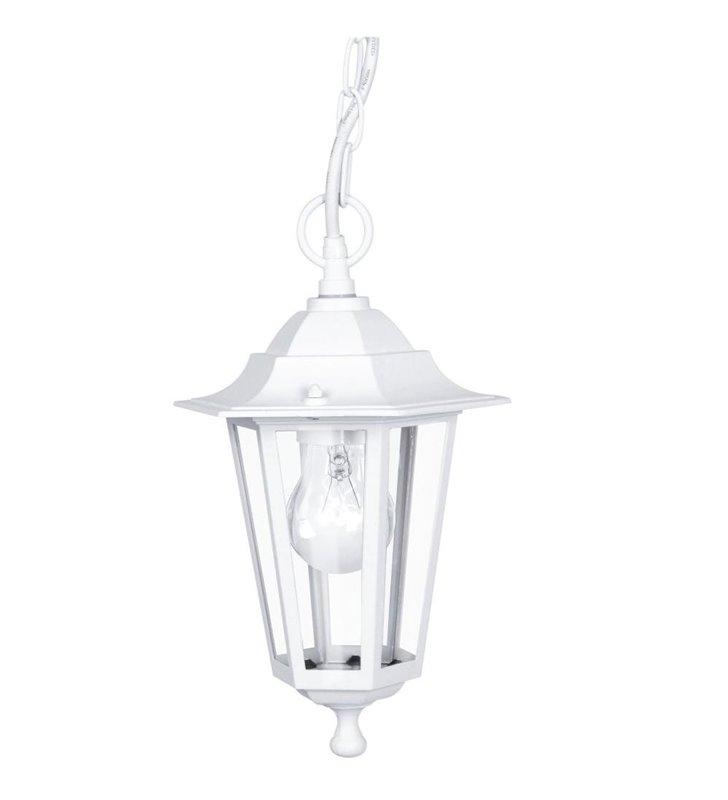 Lampa wisząca do ogrodu Laterna5 biała tradycyjna latarenka
