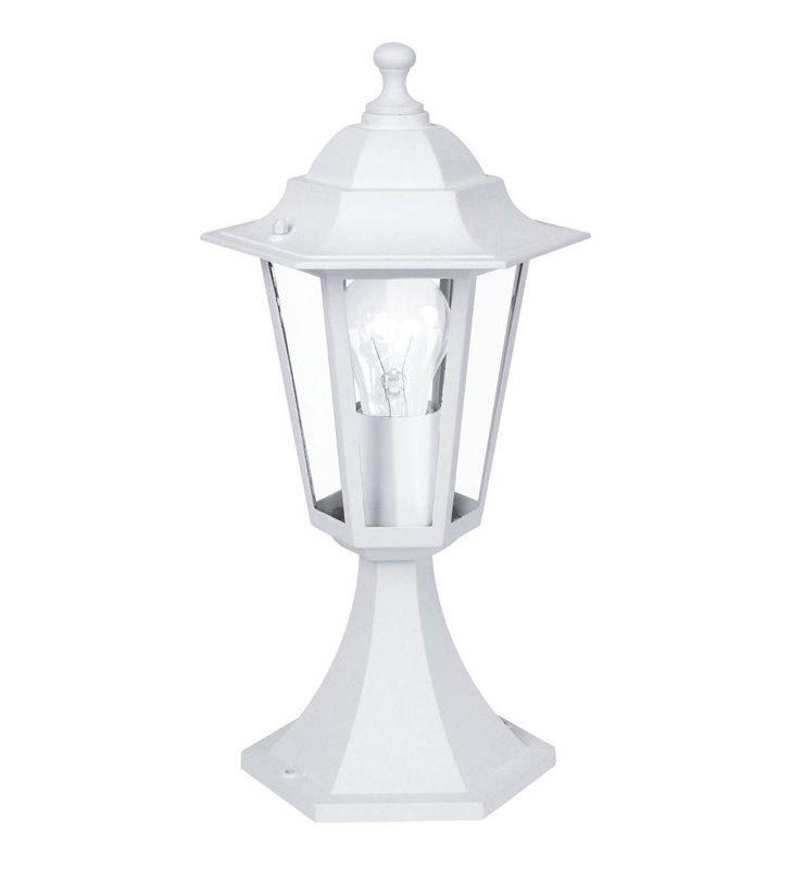 Lampa ogrodowa stojąca Laterna5 klasyczna biała latarenka