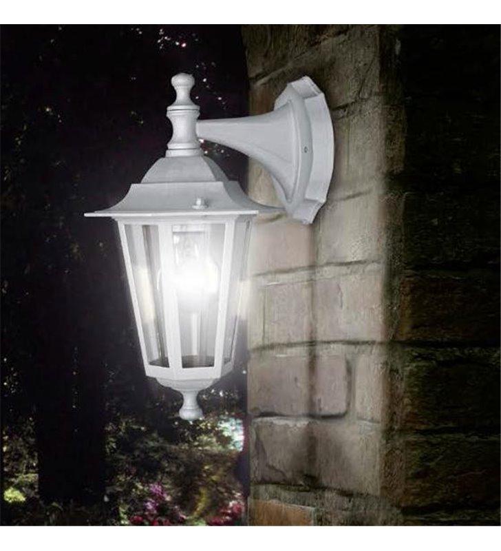 Kinkiet ogrodowy Laterna5 biała klasyczna latarenka