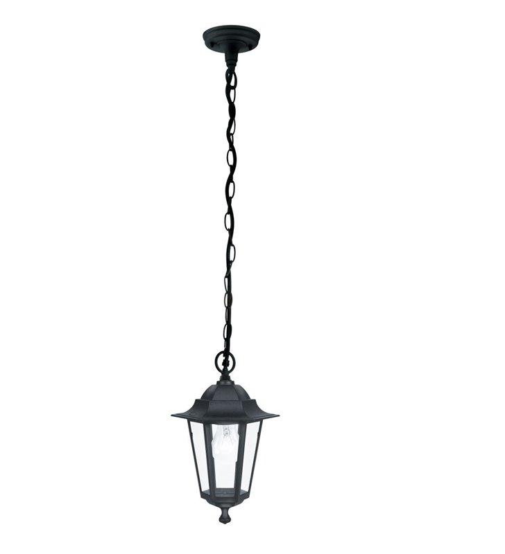 Lampa wisząca do ogrodu Laterna4 tradycyjna czarna latarenka
