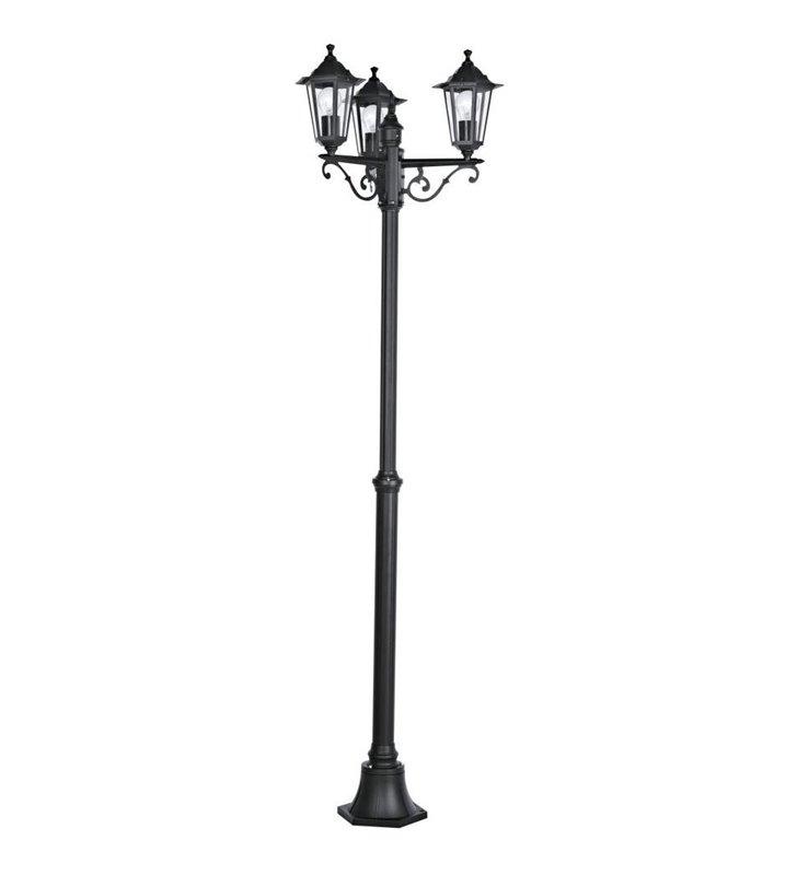 Latarnia ogrodowa Laterna4 klasyczna czarna latarenka 2m