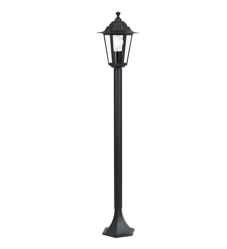 Słupek ogrodowy Laterna4 klasyczna czarna latarenka 1m