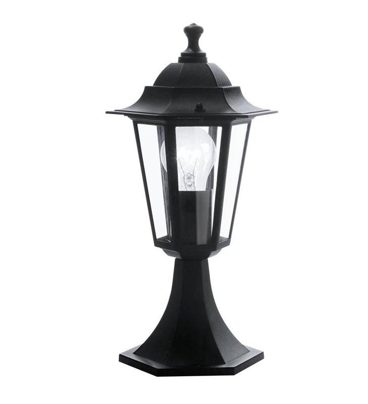 Słupek ogrodowy Laterna4 niski klasyczna czarna latarenka