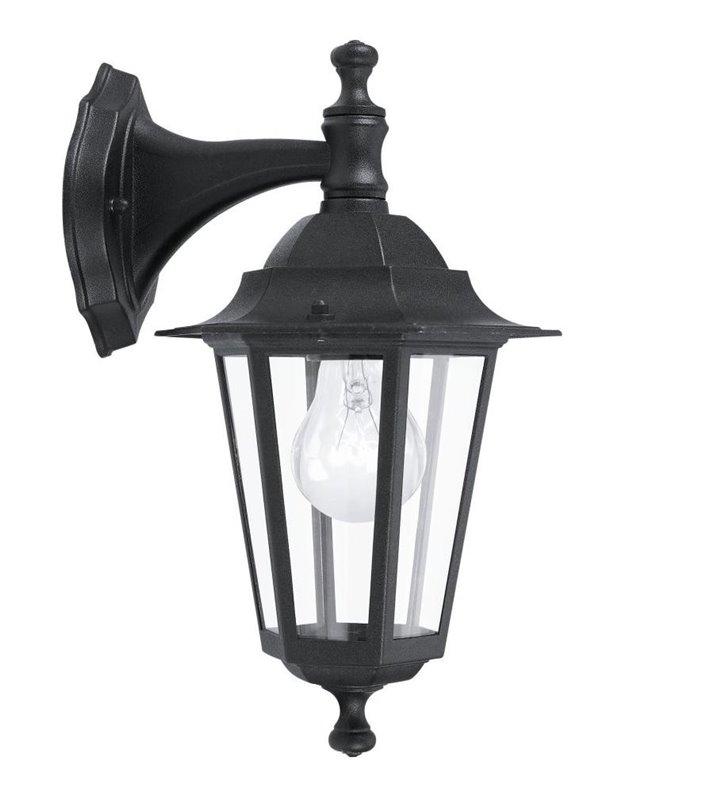 Kinkiet ogrodowy Laterna4 klasyczna czarna latarenka z kloszem w dół - OD RĘKI