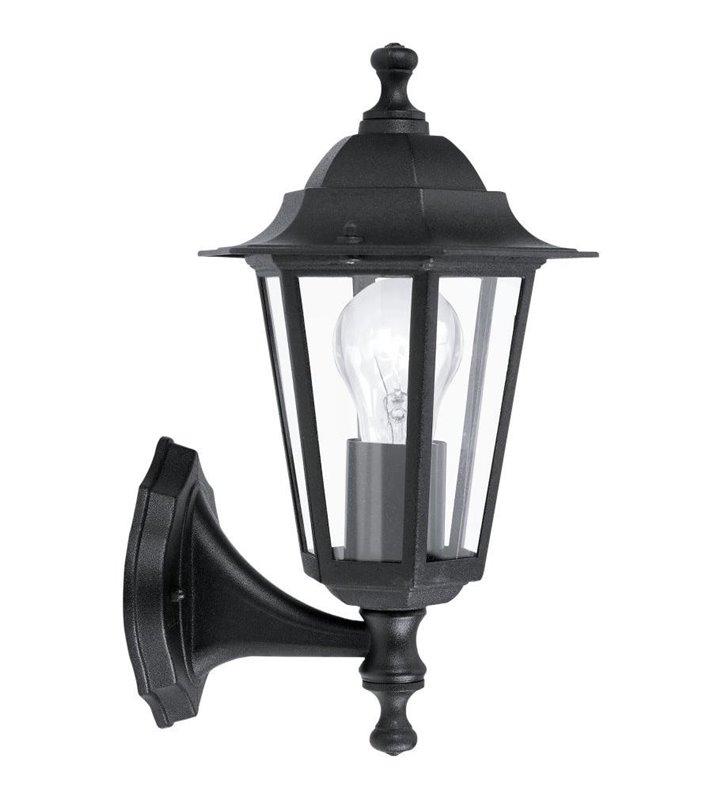 Kinkiet ogrodowy Laterna4 klasyczna czarna latarenka z kloszem do góry