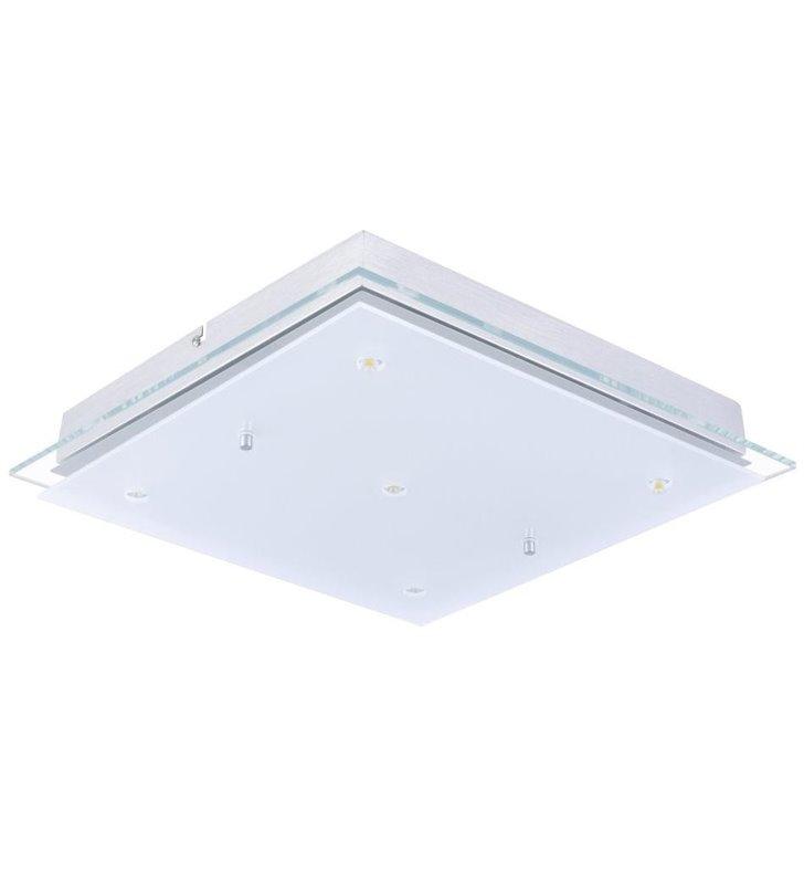 Kwadratowy szklany plafon łazienkowy Fres2 380