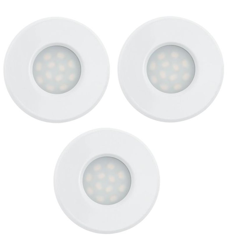 Oprawa punktowa do łazienki biała Igoa IP44 3 szt. w komplecie
