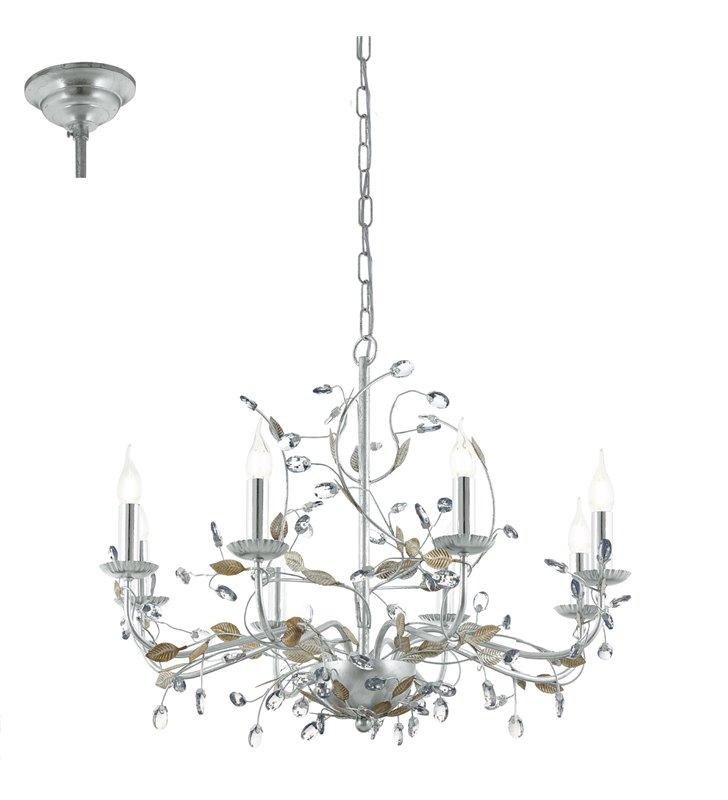 Żyrandol Flitwick1 duży zdobiony 8 punktowy świecznikowy do jadalni nad stół salonu sypialni - DOSTĘPNY OD RĘKI