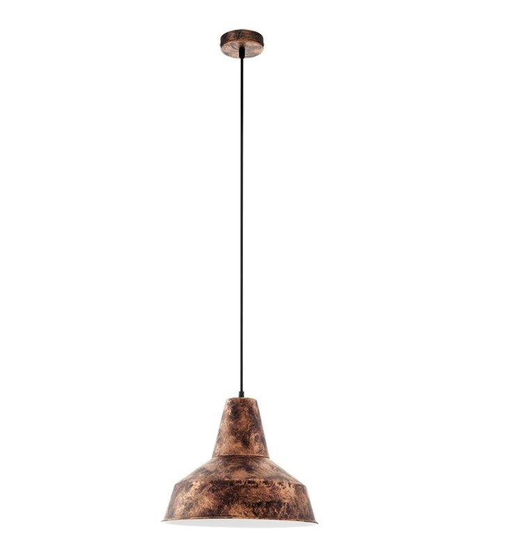 Lampa wisząca Somerton metalowa w kolorze antycznej miedzi w stylu vintage loftowym