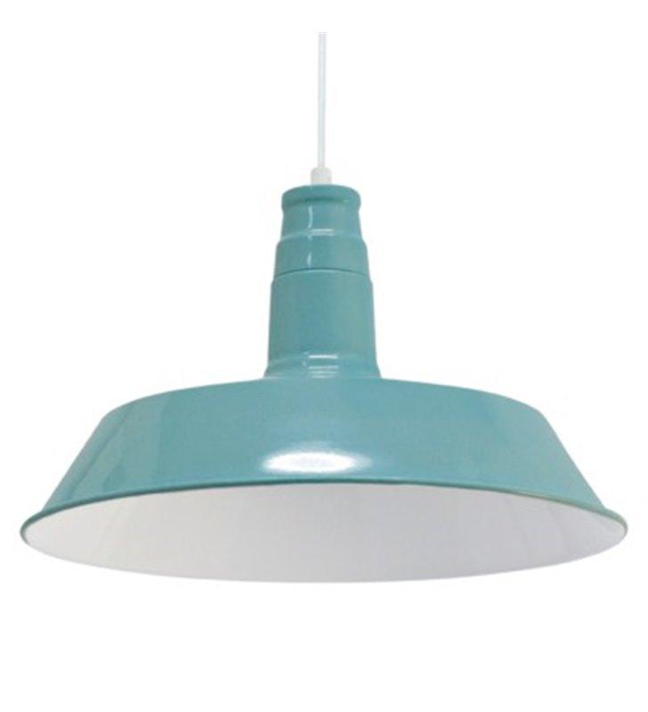 Lampa wisząca Somerton1 metalowa pojedyncza w stylu loftowym vintage kolor miętowy