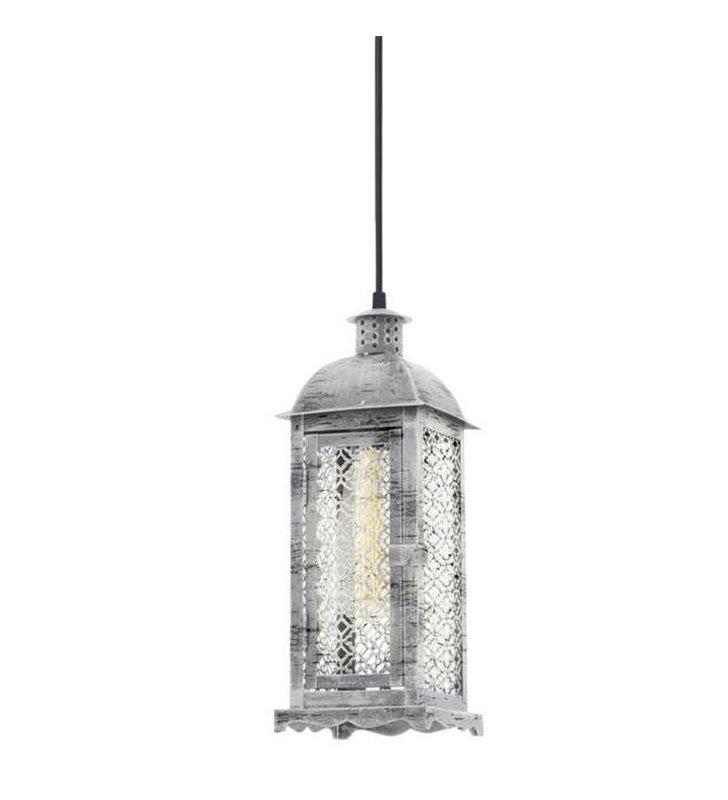 Lampa wisząca w kształcie latarenki Lisburn1 w kolorze antycznego srebra