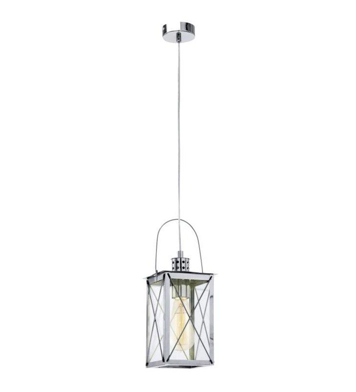Chromowana latarenka lampa wisząca w stylu vintage Donmington