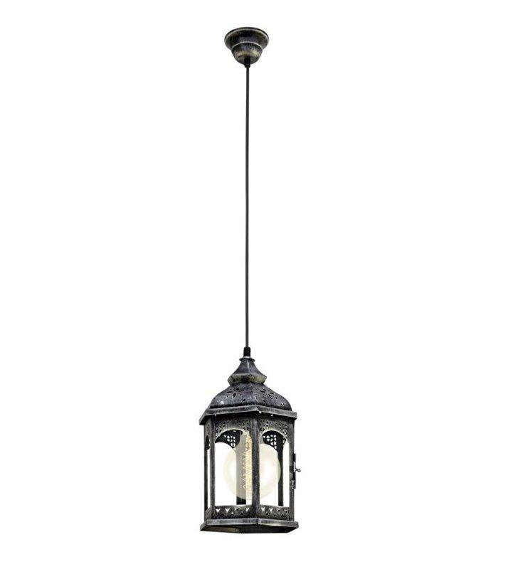 Lampa wisząca Redford1 wisząca latarenka w stylu vintage antyczne srebro