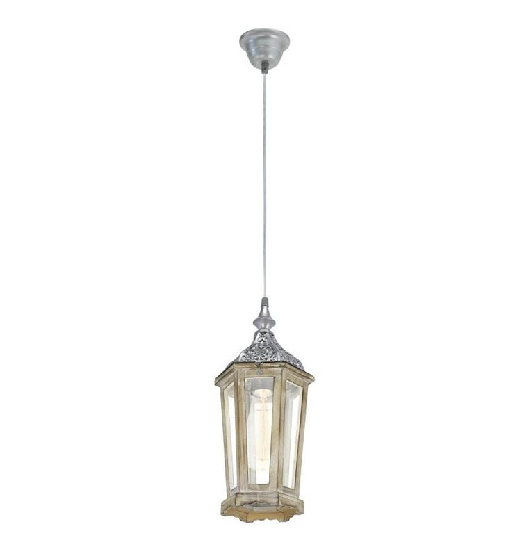 Lampa wisząca w stylu vintage Kinghorn latarenka