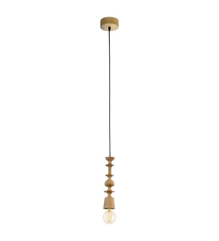 Avoltri lampa wisząca oprawka drewniana dąb w stylu vintage