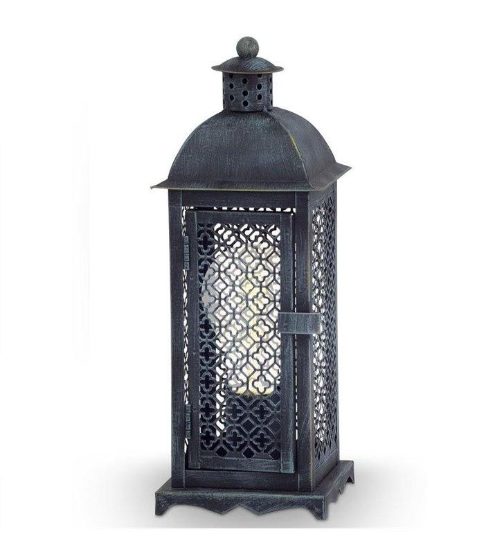 Lampa stołowa Winsham w stylu vintage latarenka