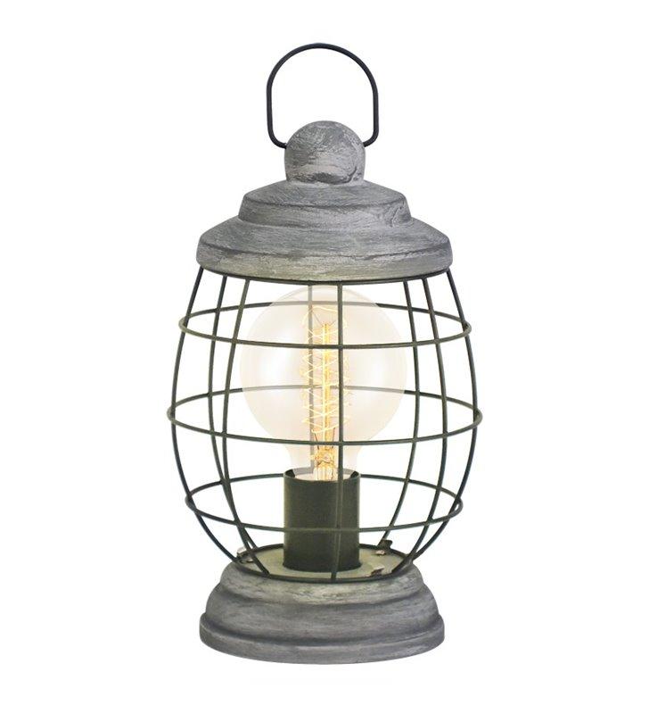 Lampa stołowa Bampton latarenka w stylu vintage