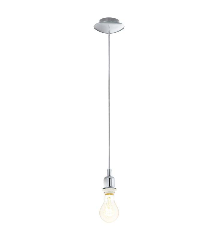 Oprawka lampy wiszącej Wells(4) chrom - wymaga abażura - DOSTĘPNA OD RĘKI
