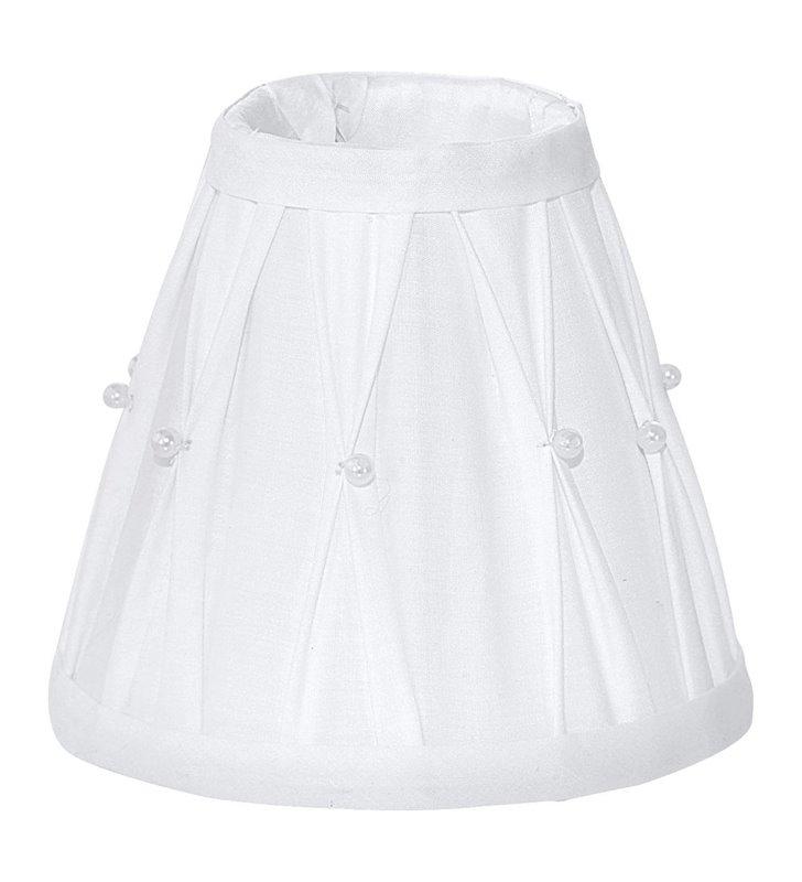 Lampa Vintage(4) - abażur 49959 biały z koralikami