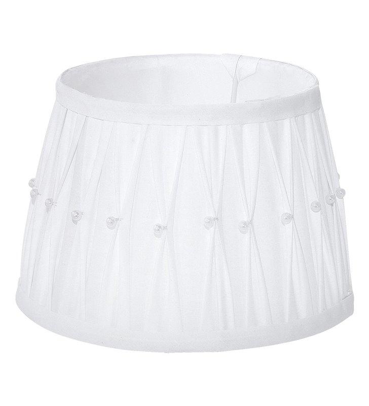 Lampa Vintage(4) - abażur biały z koralikami