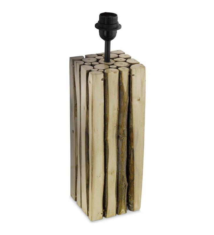 Ribadeo drewniana podstawa lampy stołowej