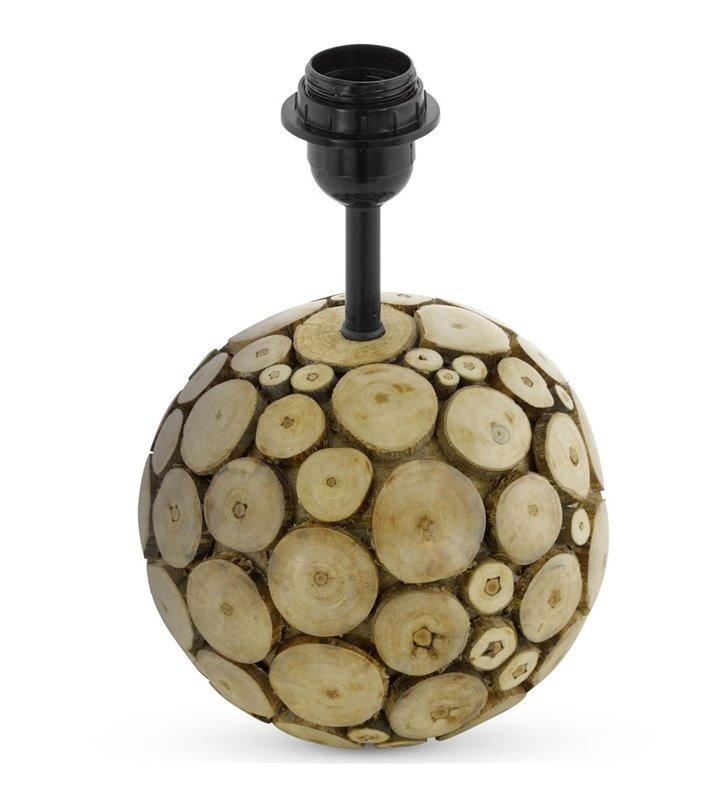 Ribadeo okrągła podstawa lampy stołowej wykonana z drewna