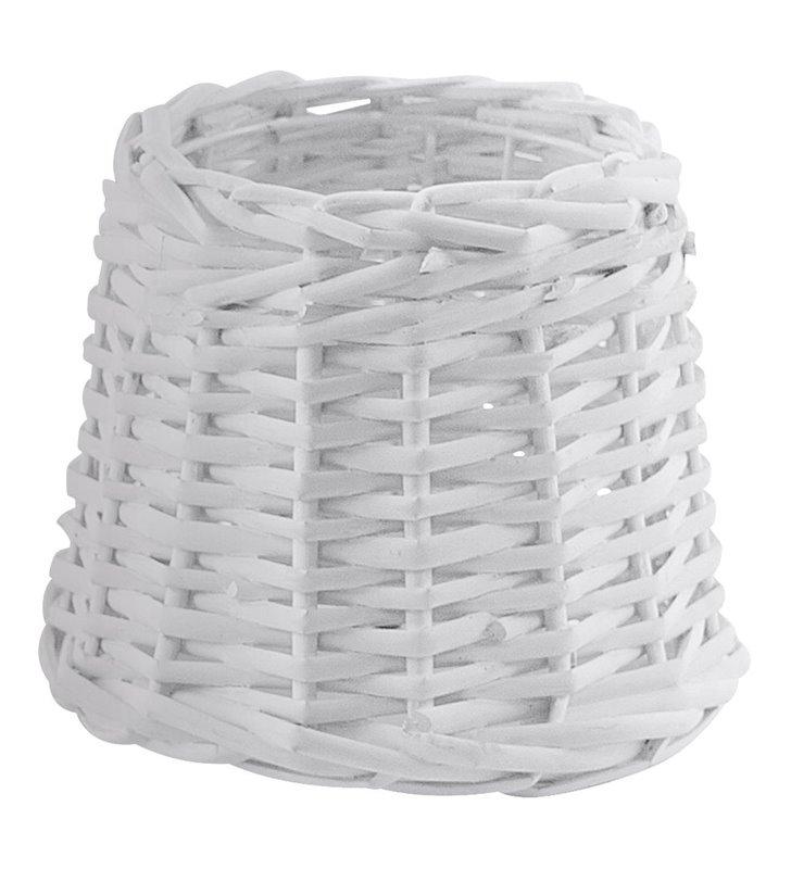 Vintage(2) abażur do lampy wykonany z rattanu w kolorze białym - OD RĘKI
