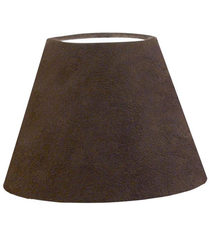 Lampa Vintage(3) - ciemno brązowy abażur wykonany z tkaniny imitującej skórę - DOSTĘPNY OD RĘKI