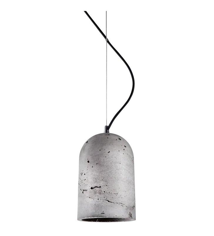 Lampa wisząca Lava kolor beton do nowoczesnego wnętrza w stylu loftowym industrialnym