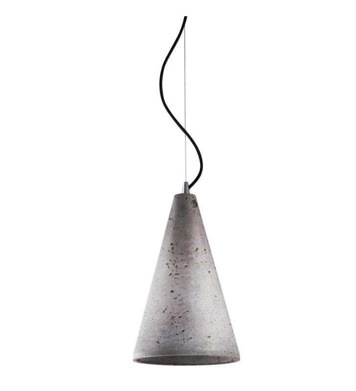 Lampa wisząca Volcano stożek beton architektoniczny do nowoczesnego wnętrza w stylu loftowym industrialnym