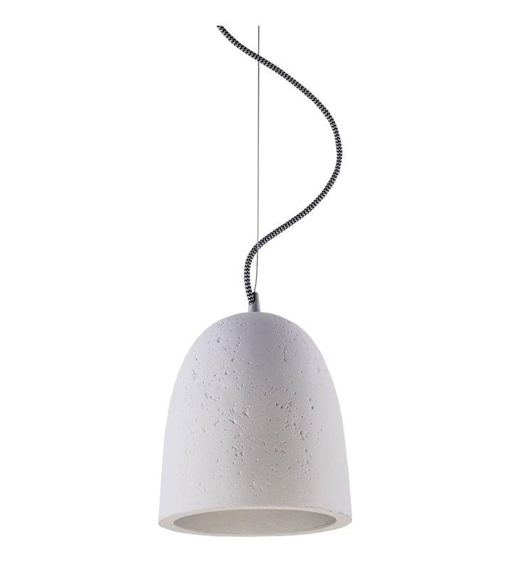 Gipsowa lampa wisząca Gypsum klosz w kształcie kopuły do nowoczesnego wnętrza - OD RĘKI