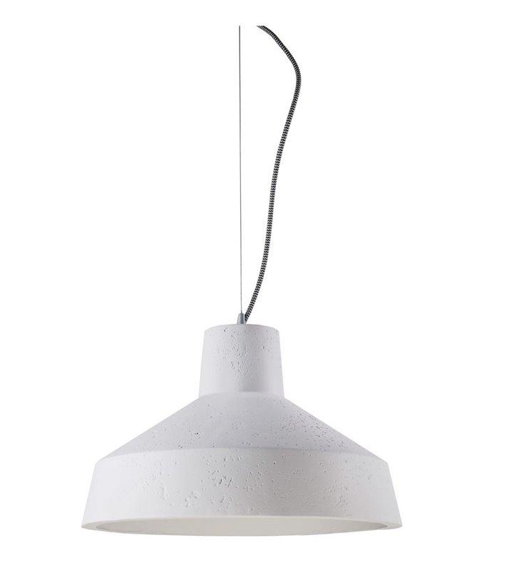 Gipsowa lampa wisząca Gypsum do nowoczesnego wnętrza kolor biały