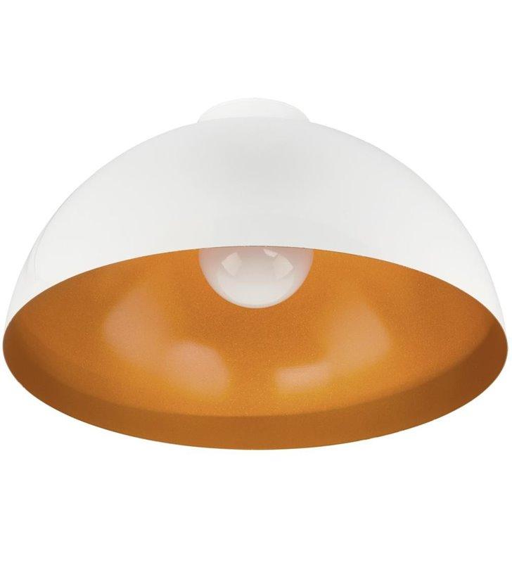 Hemisphere White Gold 500 plafon lampa sufitowa biała ze złotym środkiem okrągła do salonu sypialni przedpokoju