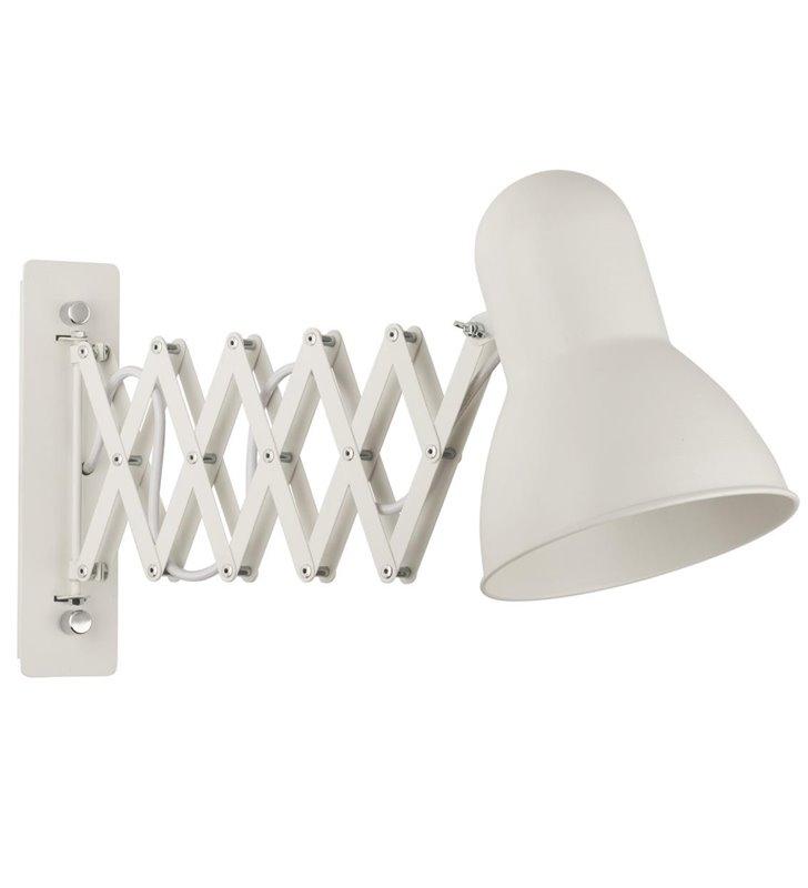 Kinkiet Harmony biały z harmonijkowym ramieniem z regulowaną głębokością