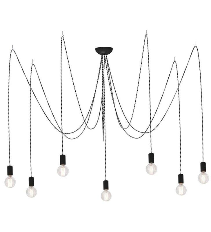 Lampa wisząca Spider 3m 7 zwisowy przewód z żarówkami