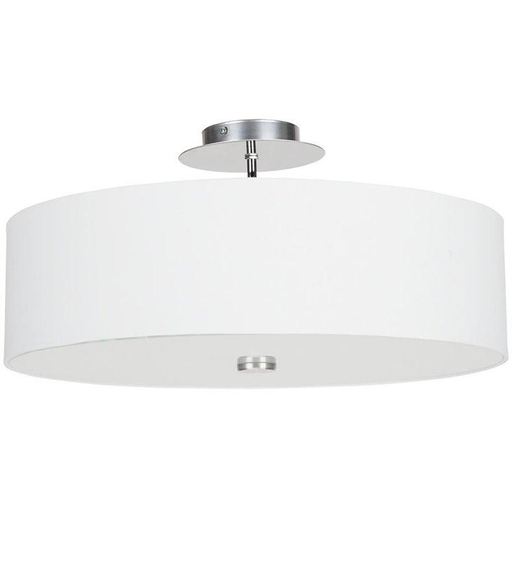 Biała sufitowa lampa Viviane White z abażurem do salonu przedpokoju sypialni - DOSTĘPNA OD RĘKI