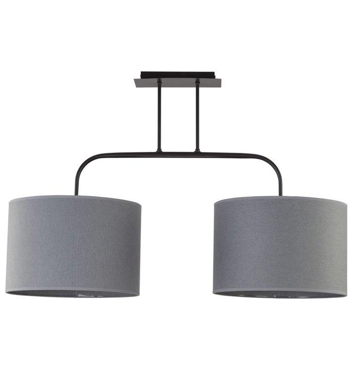 Lampa sufitowa Alice Gray duża szara z dwoma abażurami