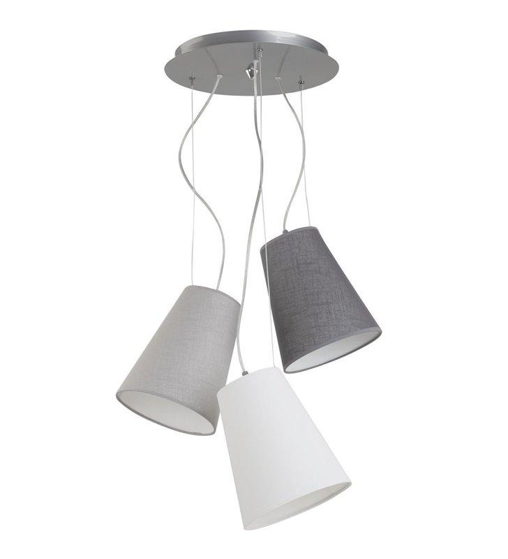 Lampa wisząca Retto 3 abażury na jednej podsufitce do salonu sypialni jadalni nad stół